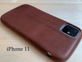 【新作】1枚革で作るiPhone11 カバー ケース 【選べる革】【名入れ可】の画像