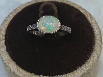 魅惑のストーン オパールリング opal&pink sapphire ovalの画像