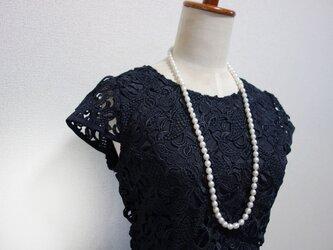 白蝶真珠 ロングネックレスの画像