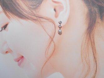 EP9367あこや真珠ピアスの画像
