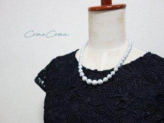 マチネ 白蝶真珠 バロックパールネックレスの画像