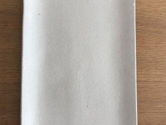粉引き皿(長方形)の画像