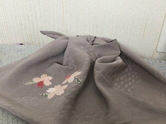 セールに ヴィンテージ着物からあずま袋 桜ひっそりとの画像