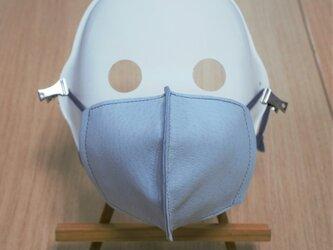 革マスク/ピッグレザーとダブルガーゼのやわらか立体マスクの画像