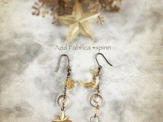 耳飾り:moon+star (gold)の画像