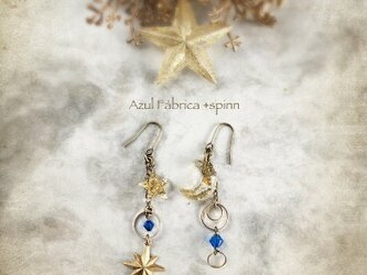 耳飾り:moon+star (blue)の画像