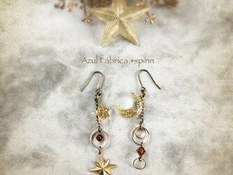 耳飾り:moon+star (brown)の画像