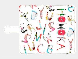人文字でお名前入れ!③ <love music> xperia Galaxy 等多機種対応 手帳型スマホケースの画像
