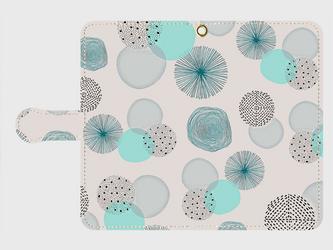北欧デザイン 「水の音」 アンドロイドLサイズ専用 手帳型スマホケースの画像