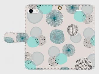 北欧デザイン 「水の音」 iphone 5/5s/6/6s/SE/7/8/X/XS/11 専用 手帳型の画像