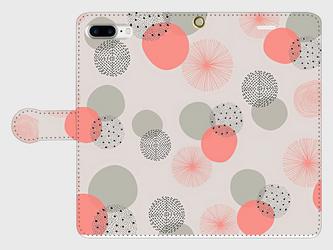 北欧デザイン 「春のヒカリ」  iphone 6plus/7plus/8plus 専用 手帳型ケース 抽象画の画像