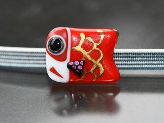 帯留め 鯉のぼり 赤の画像