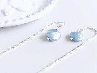 sky blue*pearl*pierceの画像