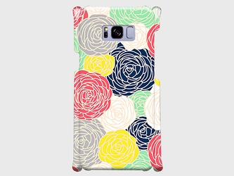 北欧デザイン フラワープリント① Galaxy S8、Xperia XZ Premium等 大サイズスマホ専用の画像