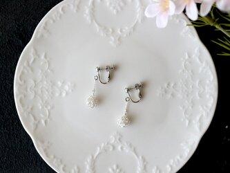 [silver999] 純銀クロッシェボールイヤリング(小)の画像