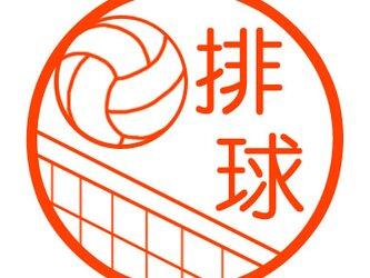 バレーボール 認め印の画像