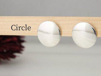 E-Circle  円盤のピアス<鏡面/ツヤ消し 選択可>の画像