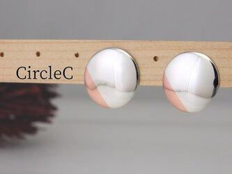 E-CircleC  円盤のピアス銅プラス<鏡面/ツヤ消し 選択可>の画像