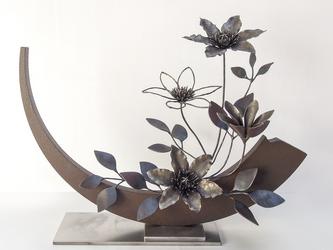 【鉄の植物 カセキの時間シリーズ】OKP-160 天の雫 ークレマチスーの画像