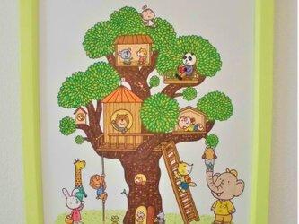 絵本の世界~動物たちの木のお家~の画像