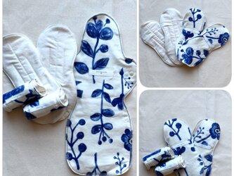 お出かけ用 布ナプキン ・ danran  /1セットの画像