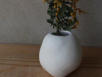 雲 花器  陶 花瓶 インテリア cloud まるの画像