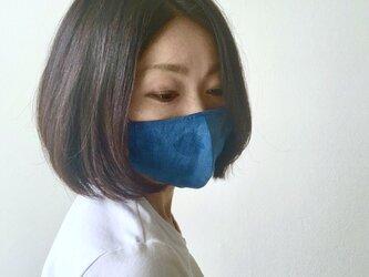 【先行販売】藍染め布の立体型マスクの画像