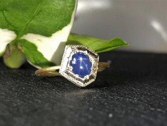 Fragment Star Sapphire ring FMR-7L K18YG*K10WGの画像