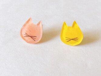 猫ひげピアス(nude pink)/プラバンの画像