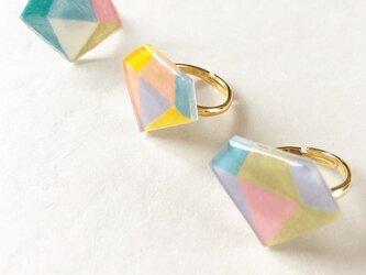 宝石モチーフリング(3color)/プラバンの画像