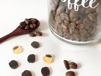 コーヒー豆&ブレンドコーヒーのピアス/プラバンの画像