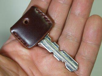 コードバンのキーカバー バーガンディの画像