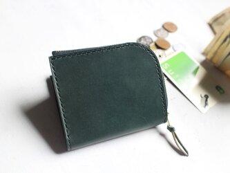 【一点物即納品】L字ファスナー小さい財布 ~イタリアンオイルレザー×栃木サドル~の画像