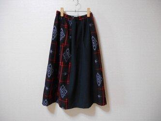 綿紬と綿生地のスカート★裏地付の画像
