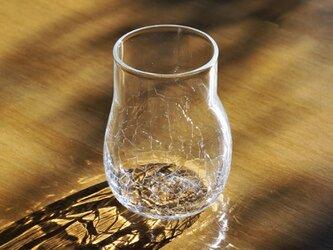 無色透明のグラス - 「KAZEの肌 」#358・ 高さ10.5cmの画像