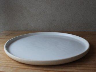育てるウツワ 平皿 25cm (地シリーズ)  白の画像