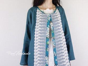 [予約販売] リバティアーカイブ・ライラックドロップ羽織りカーディガンの画像