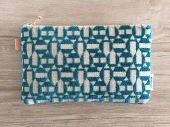 モロッカン生地で作った幾何学模様のポーチ アドラブルの画像