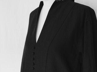 【お客様ご注文品】銀刺繍のシャツドレスの画像