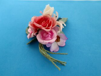布花 Corsage fleur roseの画像