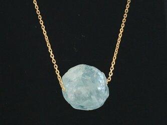 天然アクアマリン原石◇K10 Gold Necklaceの画像