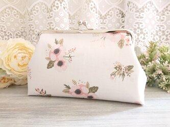 ◆アネモネのブーケがま口ポーチ*花柄ケシ芥子旅行やプレゼントにの画像
