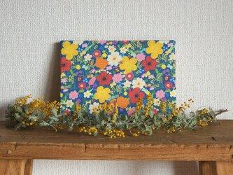 happy garden ファブリックパネル (deep blue)の画像