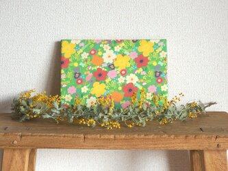 happy garden ファブリックパネル (green)の画像