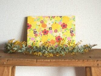 happy garden ファブリックパネル (yellow)の画像