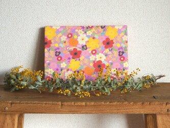 happy garden ファブリックパネル  (pink)の画像
