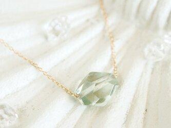 14KGF pastel stoneネックレス(green)の画像