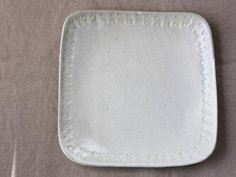 四角いパン皿(黄色と茶色のひし形模様)の画像