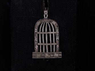 鳥カゴ(青い鳥)の画像