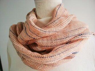 手織りストール(あかね)の画像